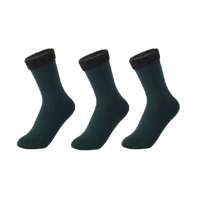 3 Pares de Calcetines cálidos de Invierno para Mujer, Calcetines Gruesos de Nailon térmico de Color sólido, Botas Suaves de Terciopelo para Nieve, calcetín Negro para Dormir en el Suelo-a16-35-40