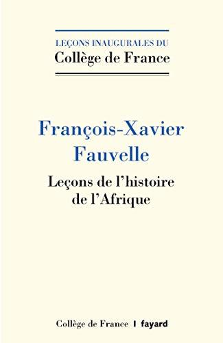 Leçons de l'histoire de l'Afrique (Collège de France)