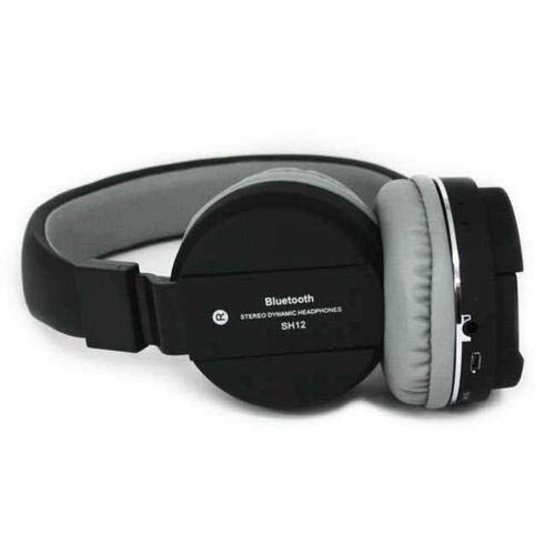 Heypex SH-12 Wireless Portable Bluetooth V4.2 Over The Ear Headphone Comes with SD/FM/AUX & Inbuilt Mic for All Devices (Multi-Colour)