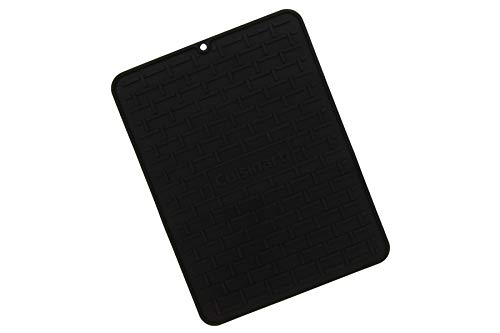 Cuisinart Silicone Drying Mat – This Dish Drying Mat Measures 16.25 x 11.5 Inches – Ideal for Pots, Glasses and Dishware – Features Convenient Lip for Easy Drainage – Keep Next to Your Sink - Black