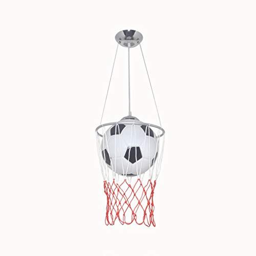 BAIJJ Kandelaar voor de gezondheid – kandelaar muziek voetbal kamer verlichting van de kinderkamer, winkel, Amerikaanse sport, E27 LED-plafondlamp, huisverlichting