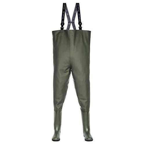 3Kamido® - Vadeadores de Pesca Classic, Serie 680, Estándar, Vadeadores Pantalones de Pesca. Color: Negro y Verde (Verde, 43)