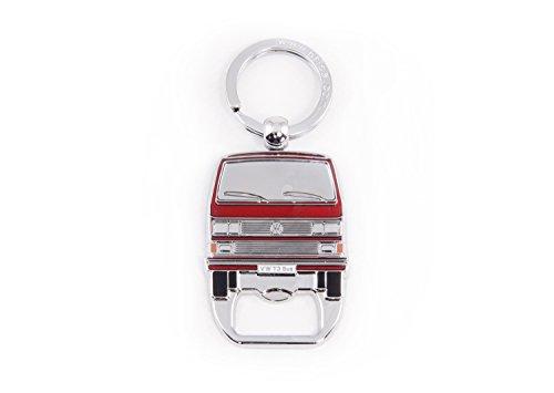 BRISA VW Collection - Volkswagen T3 Bulli Bus Schlüssel-Anhänger-Flaschenöffner, Geschenk-Idee/Fan-Souvenir/Retro-Vintage-Artikel (Rot)