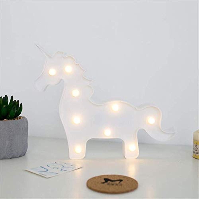 MTX Ltd Nachtlicht ins Wei Einhorn Lampe Mdchen Herz Raumdekoration Lampe Set Requisiten Tischlampe Kann Kreative Nachtlicht LED Dekorative Lichter