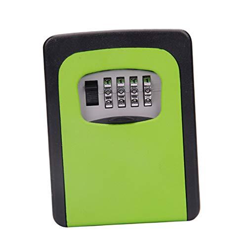 Schlüsseltresor, Wandmontage Schlüsselsafe Schlüsselbox mit 4-stelligem Zahlencode für Häuser, Büros, Fabriken Schlüssel-Hohe Sicherheit - Grün