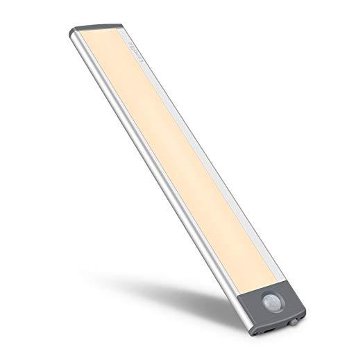 30 LED detector de movimiento, luz de armario, luz nocturna recargable por USB, luz nocturna para armario, iluminación de cocina, iluminación de armario, sensor de luz cálida