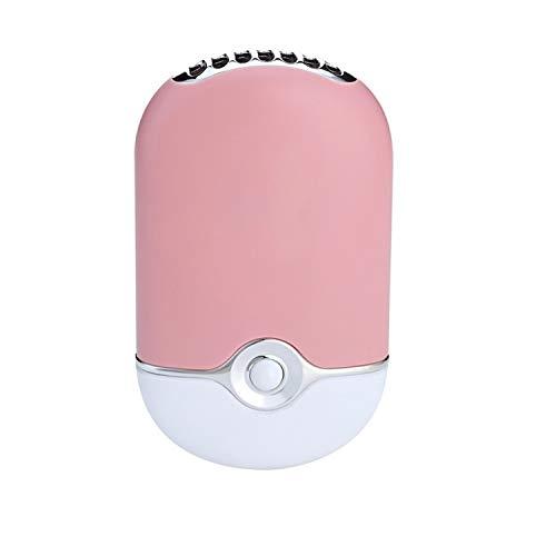 XIAOFENG-R Mini tragbare Handventilator Befeuchtung Kühler Lüfter Wimperntrockner Nageltrockner USB-Luftgebläse USB-Fan (Color : Light pink)