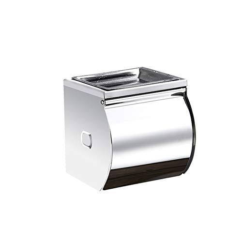 ßÃT Caja de Pañuelos No Perforada Montada en La Pared para Inodoro Caja de Papel para Limpiar a Mano Caja de Bombeo Soporte para Pañuelos Domésticos con Cenicero