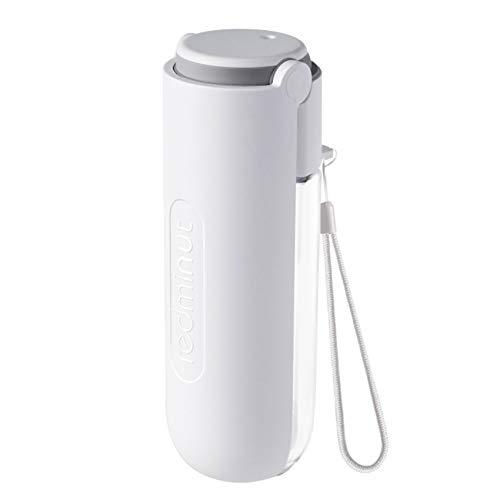 EasyULT Hunde Trinkflasche, 420ml Tragbare Haustier Trinkflasche, Wasserdicht und Auslaufsicher für Camping, Spaziergang, Wandern, Training, Unterwegs Outdoor(Weiß)