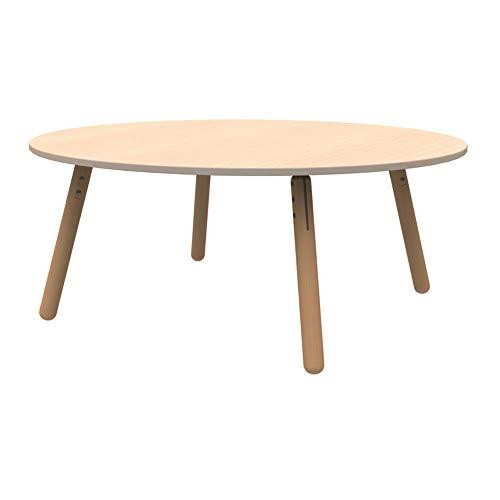 Schilte TGT-D4-Hrun120-BG Trati-Gruppentabelle, Halbe Runde, Beige Tischplatte, Halbrund Ø 120cm Abmessungen, D4 Höhe