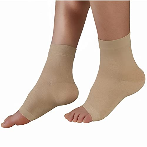 Hand Drums Compression Socks 20-30 mmHg Foot Compression Sleeves for Ankle Heel Support Increase Blood Circulation Relieve Arch Pain Reduce Foot Swelling for Women Men (Color : S, Size : Nude)