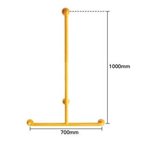 Handläufe Sicherheit Sicherheit Rutschfeste Armlehne Duschbad Dusche Halterung Stange Bad Ältere T-Slip Anti-barrierefrei Dusche Rack (gelb) (Farbe : A)