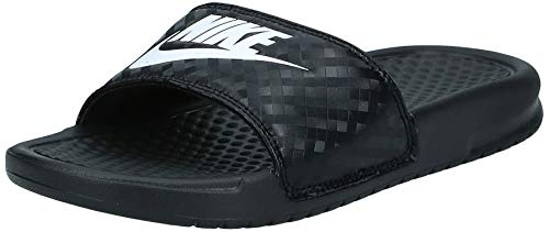 Nike Benassi JDI, Chanclas Mujer, Negro (Black/White 011), Numeric_44_Point_5 EU