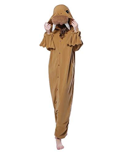 Zinuods Unisex Walrus Onesies Animal Cosplay Costumes Adult Pajamas L