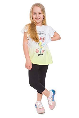 Mitaami Mädchen-Leggings, Capri-Hose aus Baumwolle, 3/4-Länge, ultra-weiche Hose, Schulkleidung, Alter 2–13 Jahre Gr. 152, Schwarz