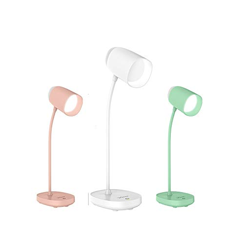 Desk Lamp 3600mAh Rechargeable Battery 3 Mode Lighting Brightness Eye ProtectionUSB Learning Table Night Light for Study - 2400mAh green