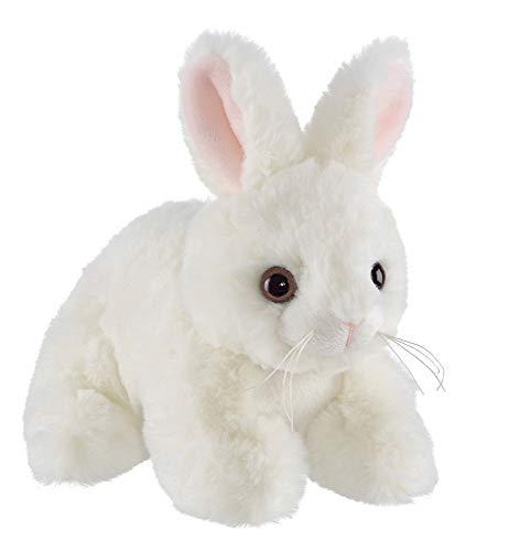 Bearington Lil Jumpy White Plush Bunny Rabbit Stuffed Animal, 7 inches