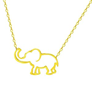 VAttract Good Luck Necklace - Elephant Pendant Necklace Jewelry - 16 inch Necklace for Women and Girls