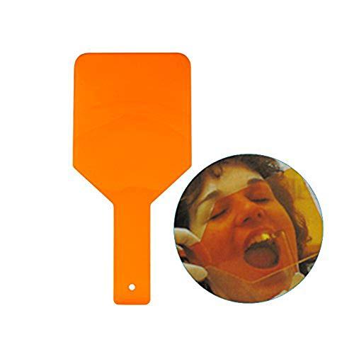 Easyinsmile Dental Clinic Eye-Protector Curing Light Shield Hand Shield Plate Orange 1pcs/pack