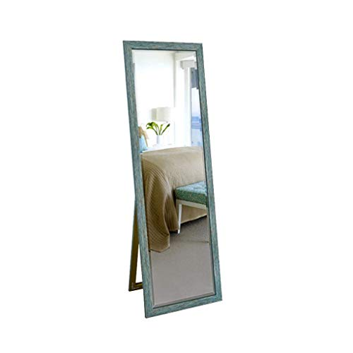 Household spiegelkast met spiegel voor kleding spiegel dressing lichaam houder dressing kamerspiegel 150*50CM Blauw
