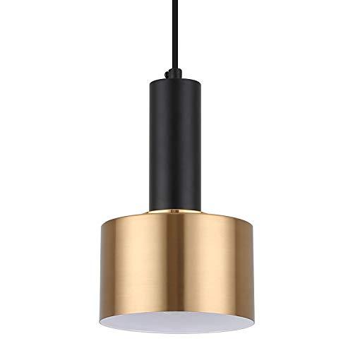 Modern Mini Pendant Light with 4W LED Bulb, One-Light Adjustable Metal Pendant Lighting Fixture for Kitchen Island Cafe Bar, Gold and Black