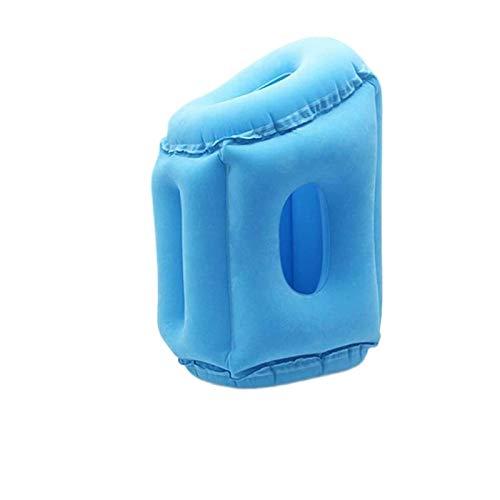 JONJUMP Almohada de viaje portátil inflable almohada cuello aire suave cojín cuerpo apoyo trasero cojín plegable golpe cuello cojín