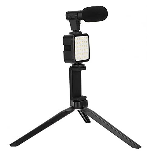 Ranvo Kit de Video para teléfono Inteligente, micrófono inalámbrico, tamaño pequeño, Kit de Plataforma de Video para teléfono Inteligente, Plug and Play para grabación de Video para podcasting