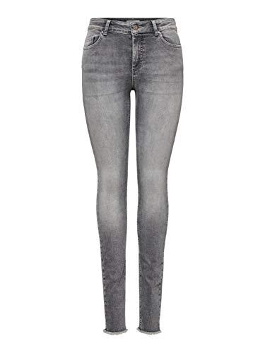 ONLY Damen Onlblush Mid Ank Raw Jns Rea0918 Noos Skinny Jeans, Grau (Grey Denim Grey Denim), XS 30L EU