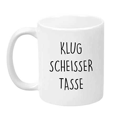 Lach - Produkte ''Klugscheisser Tasse'' - Kaffeetasse - Geschenk - Tasse - Trend Artikel -