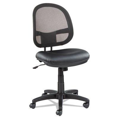 Alera ALE Interval Series Swivel/Tilt Mesh Chair, Black Leather