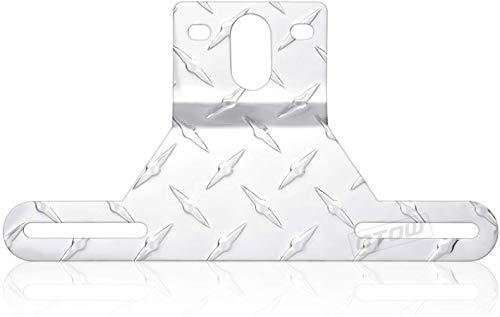 OTOW Aluminum License Plate Holder Bracket with Light Mount for Trailers Trucks Cars