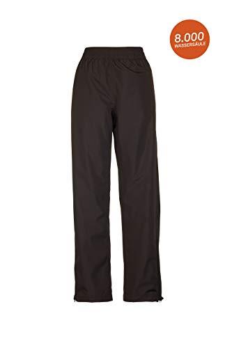 Killtec Damen Regenhose Tira, Überziehhose mit Wassersäule 8000 mm, regenfeste Hose atmungsaktiv und winddicht, schwarz, 42