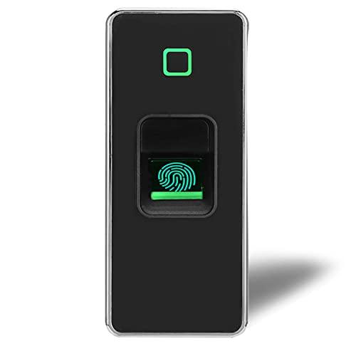Control de acceso biométrico de huellas dactilares, 125KHZ Lector de huellas dactilares de tarjeta RFID Abridor de puerta independiente impermeable de metal con control remoto