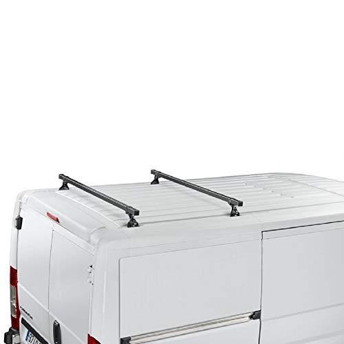 Cruz Renault Kangoo Van (II) (2008–2014) Heavy Duty Barras de Techo de Acero 35x 35en diámetro Sistema de Barra de 2