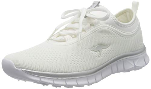 KangaROOS Damen K-Run Neo S Sneaker, Weiß (White/Silver 0002), 39 EU