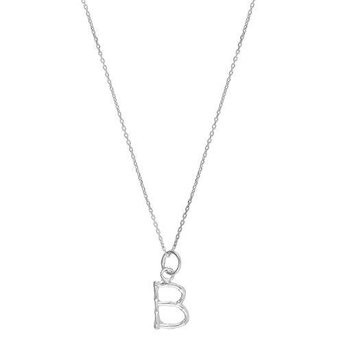 Córdoba Jewels | Gargantilla en Plata de Ley 925 con diseño Inicial B Silver Mini