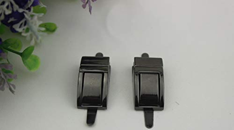 Handbags Hardware Accessories golden Metal Twist Lock Switch Lock Latch Padlock(color  Gun Black)