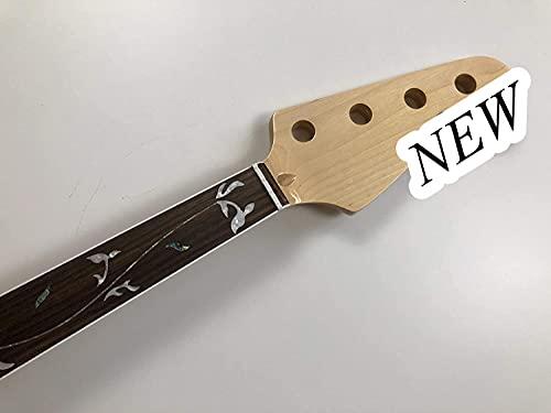 Fretless 4 cuerdas bajo eléctrico cuello de guitarra 20 trastes 34 pulgadas...