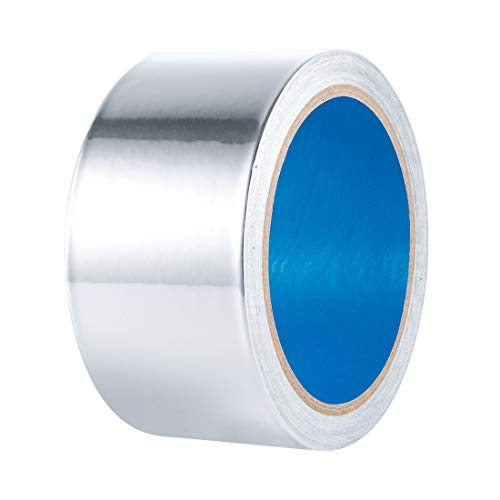 3.6mil Foil -Thicker- 13yd/60yd Aluminum Tape Aluminum Foil Tape HVAC Tape High Temperature Heavy Duty for Dryer Vent, Ductwork, AC Unit, Furnace, Water Heater, Heat Reflective, 2 inch x 13 yd(39 ft)