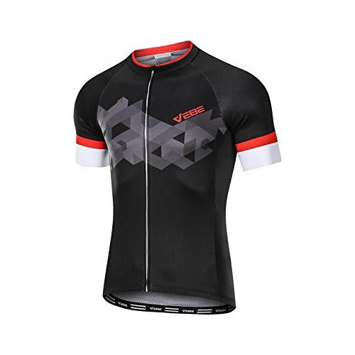 VEBE Men's Lightweight Cycling Jersey Short Sleeve Bike...
