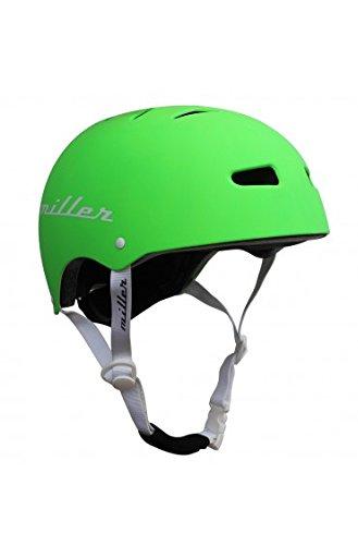 Miller Skateboards Unisex– Erwachsene Miller Pro Helmet II CE Black S/M Helm, Grün, Einheitsgröße