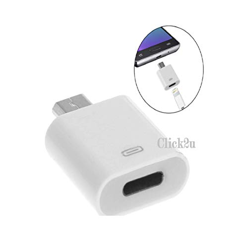 CLICK2U 8 Female to Micro USB Male Dock Adapter Android. (1Pack)