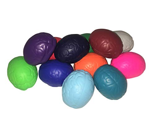 Brain Stress Reliever – Pack of 12 Assorted Colors