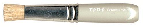 Fleur Paint 90976 - Pincel para plantillas (redondo, N.2, pelo de cerda) color gris