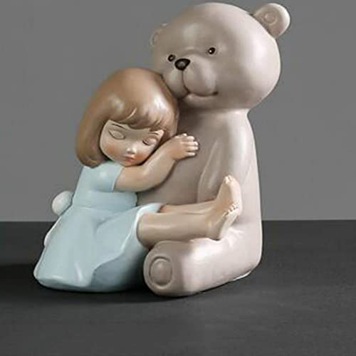 Estatua Escultura Adorno Modernos Adornos De Resina De Dibujos Animados Para Niñas...