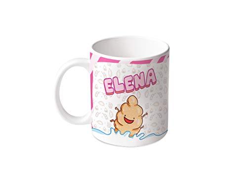 M.M. Group taza con nombre y la opinión Elena, 11ounces, cerámica, Multicolor