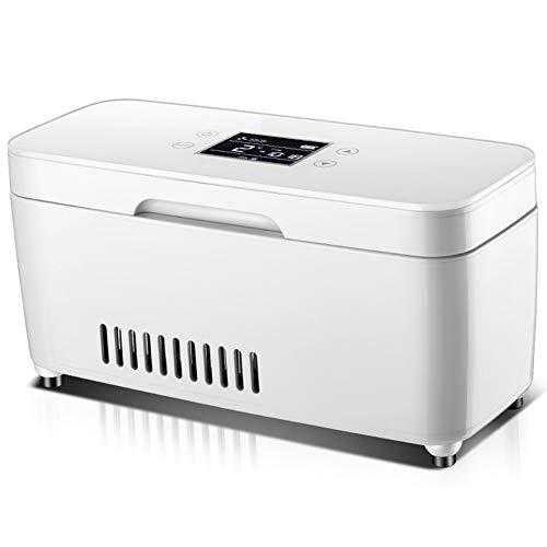 JUAN-Neveras de viaje Insulina Refrigerada Caja Médica Médico Congelador Portátil Portátil Mini USB Recargable Pequeño Refrigerador (Size : Single Battery)