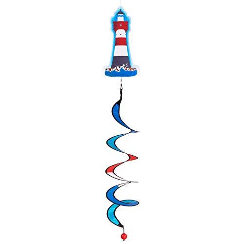 CIM Windspiel - Nordsee Twister - UV-beständig und wetterfest - Motiv: 10x19cm, Spiralen-Ø: 10cm, Länge: 75cm - inkl. Kugellagerwirbelclip