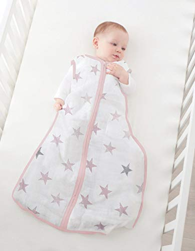 aden by aden + anais gigoteuse cozy plus, mousseline 100% coton et molletonnage 100% polyester, 2.5 TOG, doll, extra-large