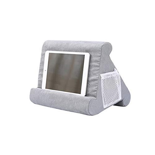 AIREQN Titular portátil Tablet Almohada Espuma Lapdesk Multifunción Ordenador portátil Cojín de enfriamiento Tablet Soporte Soporte Soporte Portátil Reposar Cojín Soportes (Color : Gray)